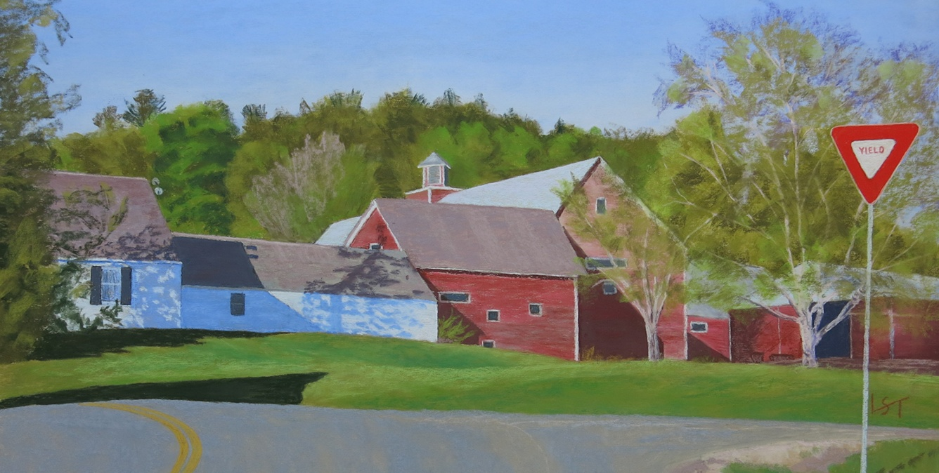 Linda Scott Taylor landscape painting in Vermont: Yield